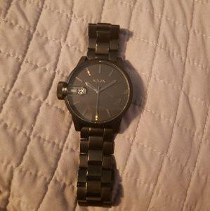 Black nixon chronograph